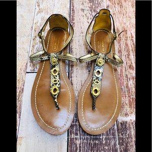 Coach Sieannah python print thing sandals size 11